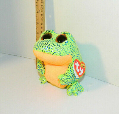 Ty Beanie Boo Speckles Frog Beanie Baby Collection 6 Green Stuffed