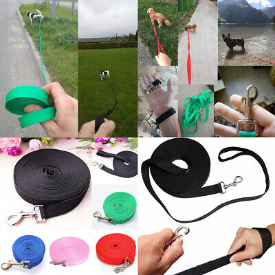 Pet Dog Puppy Leash Collar Walking Training Traction Rope Belt Safety 1.8-50m