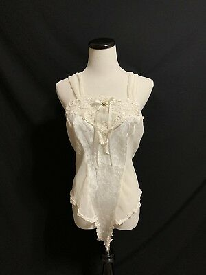 Vintage Intimate Concepts teddy lingerie part sheer Large