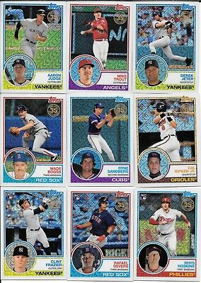 2018 Topps Series 1 1983 CHROME Silver Pack Complete SET (50) Judge-Andujar-Rhys