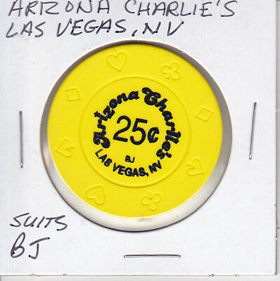 Casino Chip Token $.25 Fractional Arizona Charlies Las Vegas, Nv Bj Mold Suits