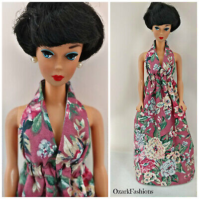 VINTAGE ROSE Barbie Dress for Curvy and Silkstone Barbie. Fits All