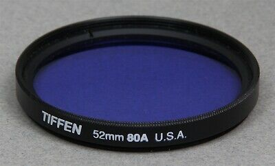 52mm Screw-In Filter TIFFEN WRATTEN 80A BLUE Color Correction Made in USA