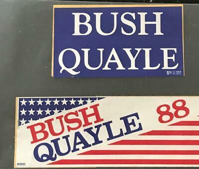 REPUBLICAN PARTY : 5 POLITICAL STICKERS; 3 Bush /Quayle, 1 George Bush, 1 Reagan