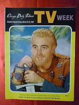 March 19 TV WEEK guide 1960 CHICAGO TRIBUNE Tales of the Vikings Courtland LUCY