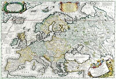 A4 Reprint of Old Maps Old European Great Britain Map 102 4