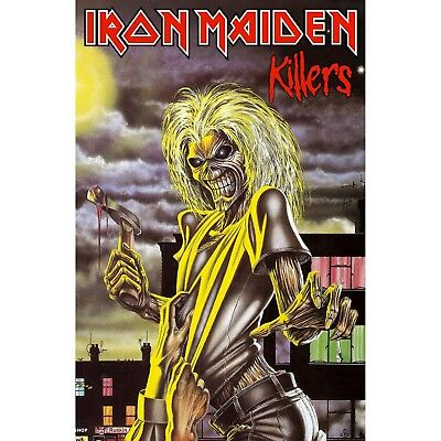 Iron Maiden Killers large fabric poster / flag 1100mm x 750mm (rz)