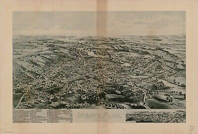 A4 Reprint of American Cities Towns States Map Ipswich Mass