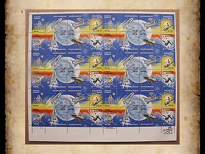 Scott 1912-1919 Space Achievement 1981 MNH Sheet of 48 18 Cent Stamps