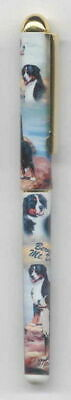 Writing Pen BERNESE MOUNTAIN DOG Breed Smooth Rollerball Black Ink Pen