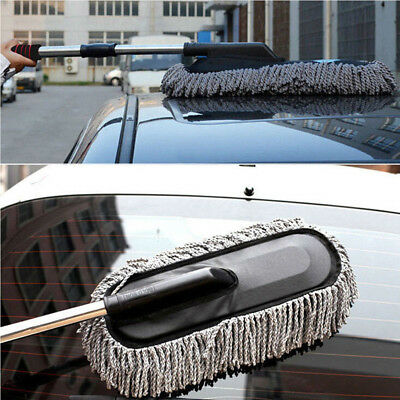 LARGE Car Cleaning Duster Cars Home Microfiber Wax Treated Handle Brush Quality