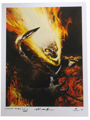 Ghost Rider Upper Deck Authenticated Giclee Print Marvel Jason Shawn Alexander