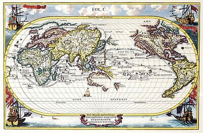 A4 Reprint of Old Maps Old Map Of Various Parts Of The World Reprint 11