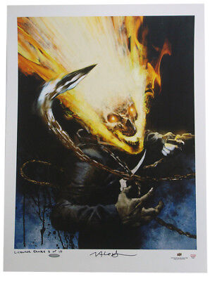Ghost Rider Upper Deck Authenticated Giclee Print Variant Marvel Jason Alexander