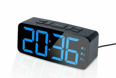 Alarm Clock Radio,FM Digital Clock Radio with USB Charger Port for Bedroom Black