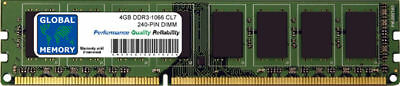 4GB DDR3 1066MHz PC3-8500 240-PIN DIMM MEMORY RAM FOR DESKTOPS/PCs/MOTHERBOARDS