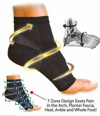 2 x Foot Compression Plantar Fasciitis Heel Arch Support Socks Feet Pain Relief