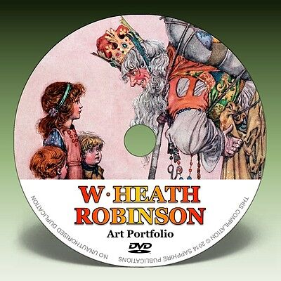 W HEATH ROBINSON - Over 800 Illustrations on DVD! * Colour Plates * Pen & Ink