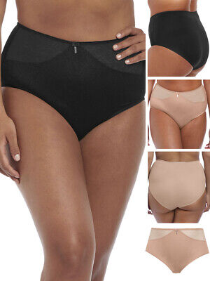 Elomi Lingerie Hermione High Brief Knickers 8125 Fawn M 4L