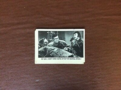 Rare Trade Card Abc A&bc You'll Die Laughing Creature Feature No 28