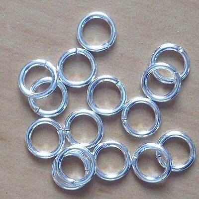 5x1.0mm Silver Plated Strong Brass Single Loop Open Jump Rings 18 Gauge Findings