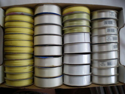 Mixed lot of 38 spools of ribbon ALL UNUSED