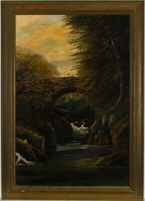 Fred W. Gard - Framed Late 19th Century Oil, A Wooded River Landscape