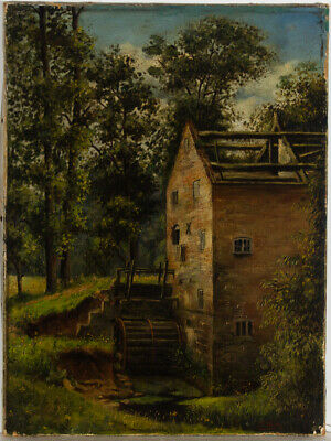 C.F. Weston - Signed Late 19th Century Oil, Woodland Mill