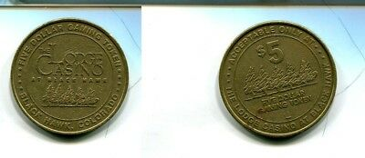 Black Hawk Colorado $5 The Lodge Casino Vintage Token