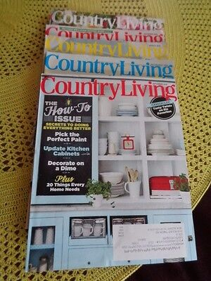 Country Living Magazine Lot Of 5 Issues New