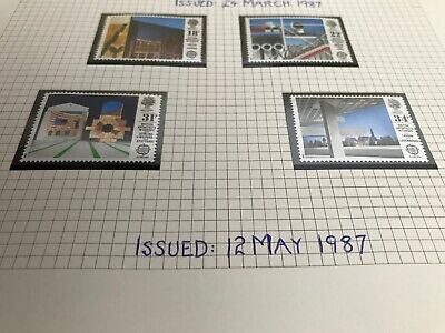 GB 1987 SG#1355-8 Europa, British Architects In Europe MNH Set #D2813