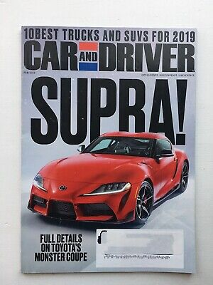 Car And Driver Magazine February 2019 Toyota Monster Coupe 10 Best