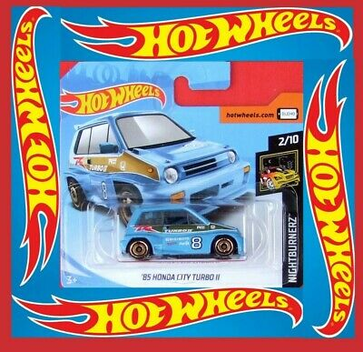 Hot Wheels 1985 Honda City Turbo II blau Kleinwagen Auto Car HW Mattel blue ´85 Spielzeugautos
