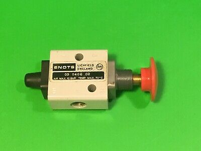 "Spool valve Enots pneumatic 03 0406 02 1/8"" or 1/4"" bsp ports ,engineers part."