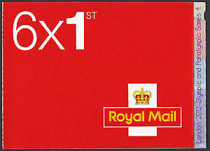 6 x 1st CLASS Stamps NEW Royal Mail Postage Stamp First Book Sheet UK FAST POST!