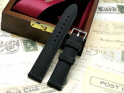 22mm Soft Silicon Rubber Watch Replacement Strap Black Fit Any Watch 22mm