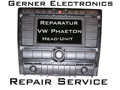 Reparatur VW Phaeton ZAW Radio Head-Unit 3D0 035 007 Navi - Repair Service