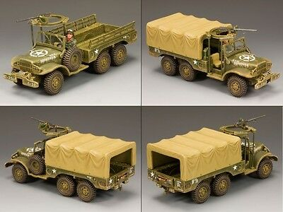 King & Country Battle Of The Bulge Bba038 U.s. Army Wc63 1 1/2 Ton Truck Set Mib