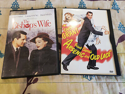 Mint Cary Grant DVD Lot: Arsenic and Old Lace (1944) + The Bishop's Wife (1947)