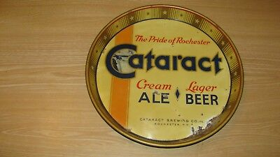 Vintage  Cataract  Beer Tray Cataract Brewing Co Rochester Ny 12 Inch Diameter