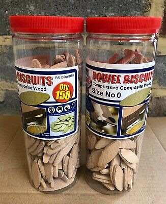 Faithfull FAI DOWBISO Dowel Biscuits Size No 0 Qty 2 x 150