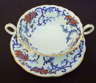 Royal Cauldon SHANGRI LA Cream Soup & Saucer Made in England