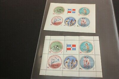 DOMINICA - 1961 15th ANNIVERSARY OF UNESCO / OLYMPIC GAMES  SET of 2 SS