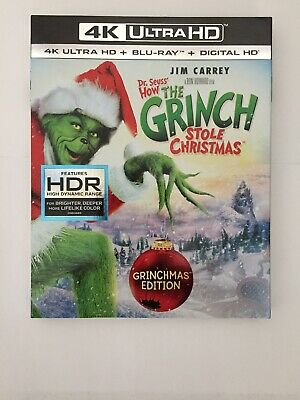 Dr Seuss How The Grinch Stole Christmas 4K ULTRA HD OUTER SLIPCOVER ONLY