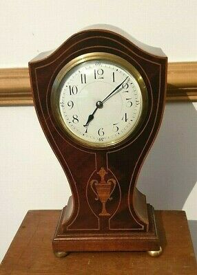 CLOCK IN A Tulip Mahogany  CASE  c 1890.   French 8 Day