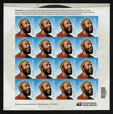 #5371  Marvin Gaye- Music Icon - (forever) 2019 Issue - MNH Sheet of 16