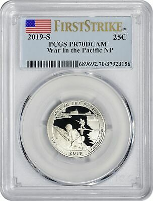 2019-S Clad War in the Pacific Park Quarter PR70DCAM PCGS First Strike