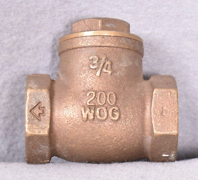 "3 Count Swing Check Valves 3/4"" WOG 200"