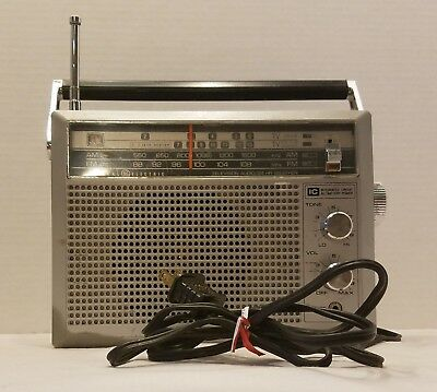 Vtg GE AM FM Radio 7-2940A Stereo Integrated Circuit TV Sound AC/Battery Works