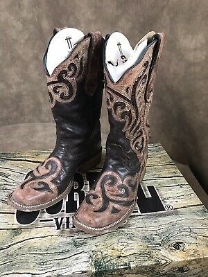 c0ed77c253e ARIAT LADIES REVEL Rustic Black Tall Cowgirl Boot Size 6.5 - $90.00 ...